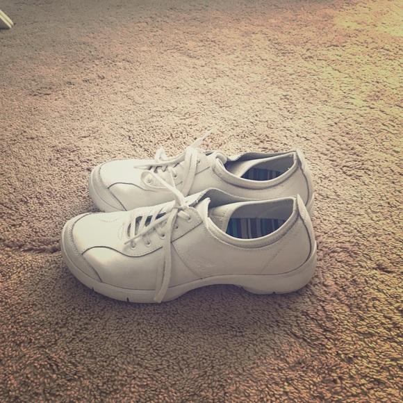 Dansko Shoes | White Tennis | Poshmark
